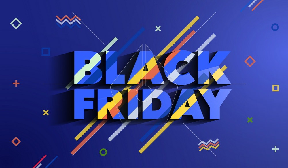 Black Friday. Sale and discounts fashion banner. A bright templa