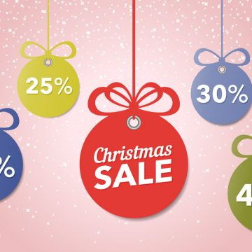 Christmas and New Year's sale. Beautiful discount and promotion