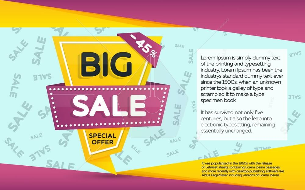 Sale banner template design. Geometric shape with sharp angles.