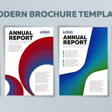 Covers with gradient shapes. Set of Annual reports. Applicable for banners, placards, posters and banner designs. Business brochure, flyer and cover design layout template. Vector illustration