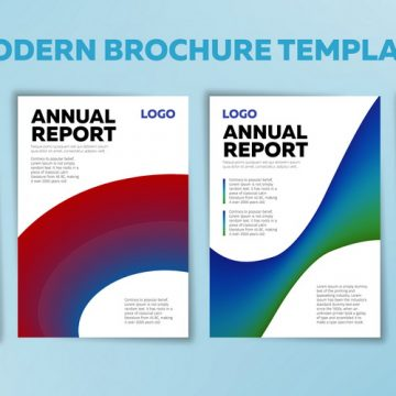 Covers with gradient shapes. Set of Annual reports. Business brochure, flyer and cover design layout template. Applicable for banners, placards, posters and banner designs. Vector illustration