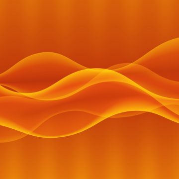 Vector abstract digital wave design element. Sound waves with a gradient. Technology concept. Glowing lines. Abstract orange background. Vector illustration.
