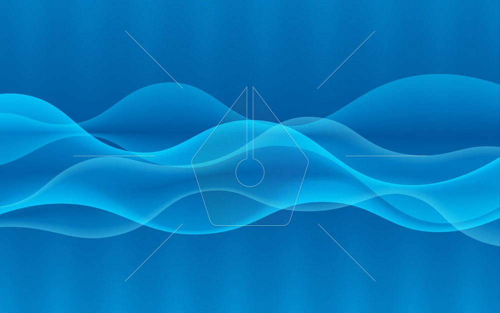 Vector abstract digital wave design element. Sound waves with a gradient. Glowing lines. Abstract blue background. Technology concept. Vector illustration.