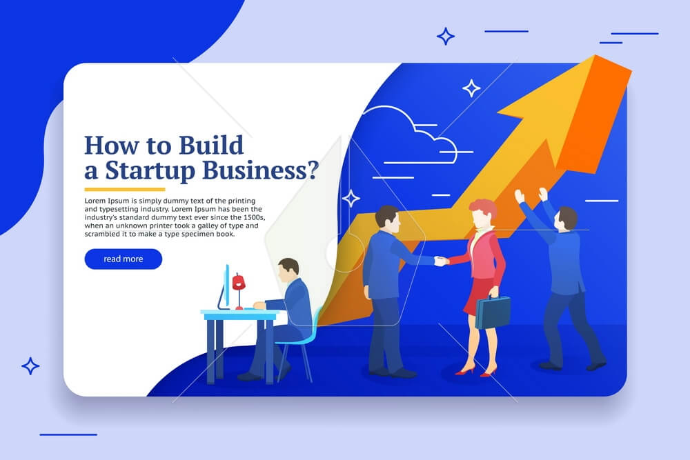 Business planning, risk management design concept. Website banner templates. Startup concept. Launch a new product on a market. Vector illustration