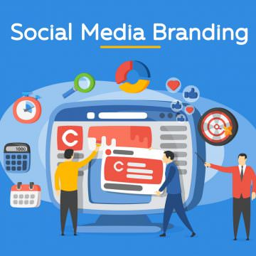 Promotion of the brand in social network. People in the social m